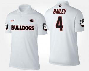 #4 Champ Bailey Georgia Bulldogs Men's Polo - White