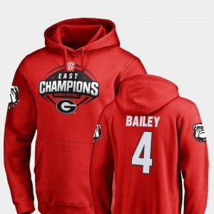#4 Champ Bailey Georgia Bulldogs Men's Football 2018 SEC East Division Champions Hoodie - Red