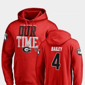 #4 Champ Bailey Georgia Bulldogs For Men 2019 Sugar Bowl Bound Counter Hoodie - Red