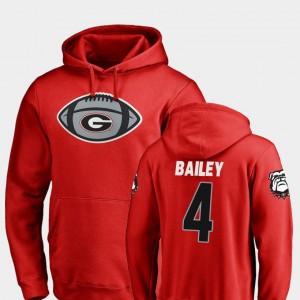 #4 Champ Bailey Georgia Bulldogs Football Game Ball For Men Hoodie - Red