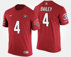 #4 Champ Bailey Georgia Bulldogs Bowl Game Southeastern Conference Rose Bowl For Men's T-Shirt - Red