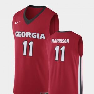 #11 Christian Harrison Georgia Bulldogs Replica For Men College Basketball Jersey - Red