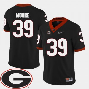 #39 Corey Moore Georgia Bulldogs 2018 SEC Patch College Football Mens Jersey - Black