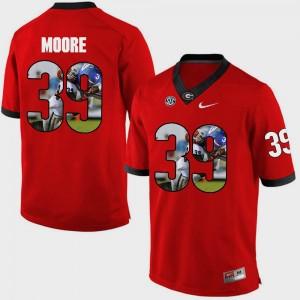 #39 Corey Moore Georgia Bulldogs Pictorial Fashion Men Jersey - Red