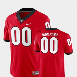 #00 Georgia Bulldogs College Football 2018 Game For Men's Customized Jersey - Red