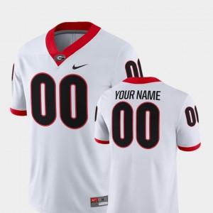 #00 Georgia Bulldogs College Football Men's 2018 Game Customized Jerseys - White