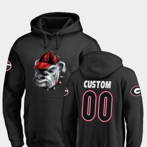 #00 Georgia Bulldogs Mens Football Midnight Mascot Custom Hoodie - Black
