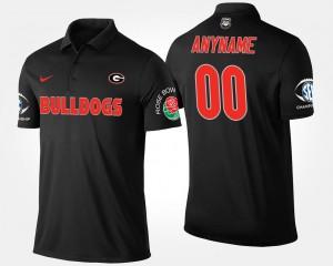 #00 Georgia Bulldogs Bowl Game Men Southeastern Conference Rose Bowl Custom Polo - Black