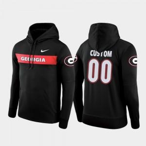 #00 Georgia Bulldogs Sideline Seismic Football Performance Men Custom Hoodie - Black