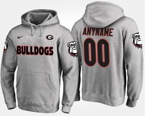 #00 Georgia Bulldogs Men Customized Hoodies - Gray