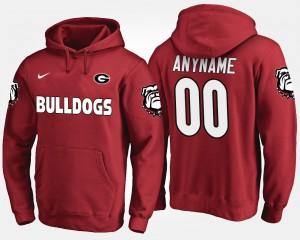 #00 Georgia Bulldogs For Men's Customized Hoodie - Red