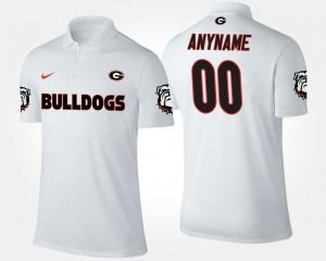 #00 Georgia Bulldogs For Men Custom Polo - White