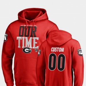 #00 Georgia Bulldogs Men 2019 Sugar Bowl Bound Counter Custom Hoodie - Red