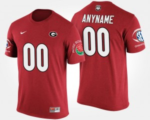 #00 Georgia Bulldogs Men Bowl Game Southeastern Conference Rose Bowl Customized T-Shirts - Red
