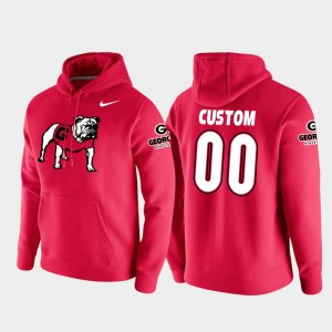 #00 Georgia Bulldogs Vault Logo Club College Football Pullover For Men's Customized Hoodies - Red
