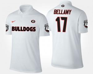 #17 Davin Bellamy Georgia Bulldogs Men Polo - White