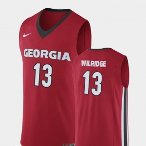 #13 E'Torrion Wilridge Georgia Bulldogs Replica College Basketball Mens Jersey - Red
