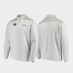 Georgia Bulldogs Men Shep Shirt Quarter-Zip Jacket - Gray