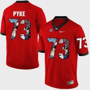 #73 Greg Pyke Georgia Bulldogs Pictorial Fashion Men's Jersey - Red
