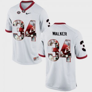 #34 Herschel Walker Georgia Bulldogs Pictorial Fashion Men's Jersey - White