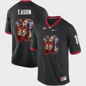 #10 Jacob Eason Georgia Bulldogs Pictorial Fashion Men's Jersey - Black
