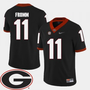 #11 Jake Fromm Georgia Bulldogs College Football 2018 SEC Patch For Men's Jersey - Black