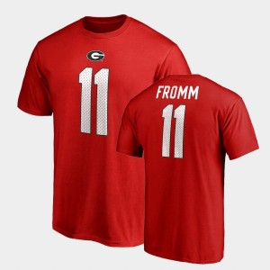 #11 Jake Fromm Georgia Bulldogs Name & Number College Legends For Men T-Shirt - Red