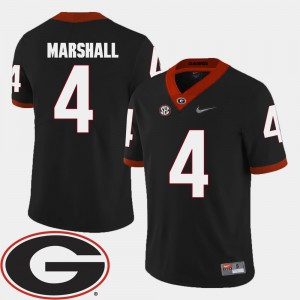 #4 Keith Marshall Georgia Bulldogs College Football Men 2018 SEC Patch Jersey - Black