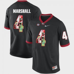 #4 Keith Marshall Georgia Bulldogs Pictorial Fashion Men's Jersey - Black