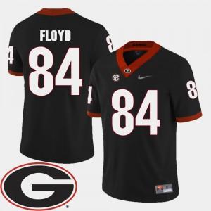 #84 Leonard Floyd Georgia Bulldogs College Football 2018 SEC Patch Mens Jersey - Black