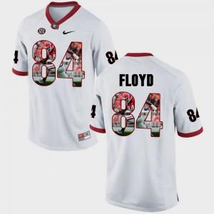 #84 Leonard Floyd Georgia Bulldogs Mens Pictorial Fashion Jersey - White