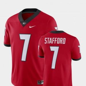 #7 Matthew Stafford Georgia Bulldogs Alumni Football Game Mens Player Jersey - Red