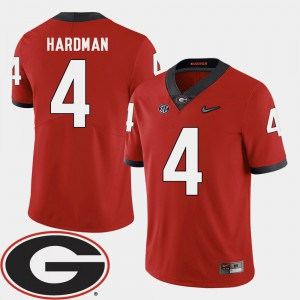 #4 Mecole Hardman Georgia Bulldogs 2018 SEC Patch College Football For Men Jersey - Red
