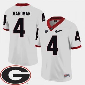#4 Mecole Hardman Georgia Bulldogs College Football 2018 SEC Patch For Men Jersey - White