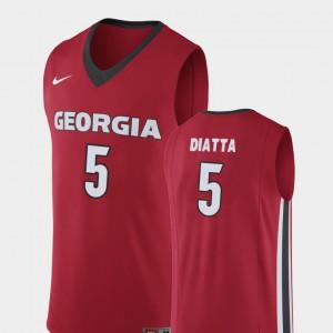 #5 Pape Diatta Georgia Bulldogs Replica Men College Basketball Jersey - Red