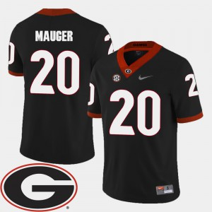 #20 Quincy Mauger Georgia Bulldogs College Football 2018 SEC Patch Men Jersey - Black