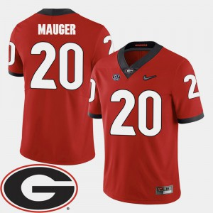 #20 Quincy Mauger Georgia Bulldogs College Football 2018 SEC Patch For Men's Jersey - Red