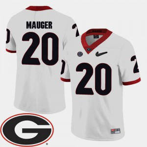#20 Quincy Mauger Georgia Bulldogs 2018 SEC Patch College Football Men's Jersey - White