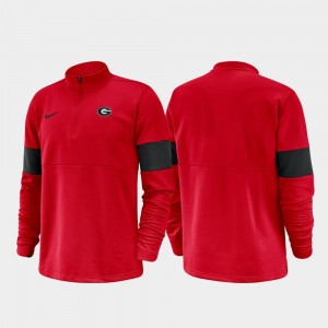 Georgia Bulldogs Half-Zip Performance 2019 Coaches Sideline For Men Jacket - Red