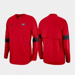 Georgia Bulldogs 2019 Coaches Sideline Mens Quarter-Zip Jacket - Red
