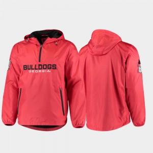 Georgia Bulldogs Base Runner Men Half-Zip Jacket - Red