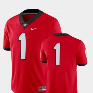 #1 Georgia Bulldogs Mens College Football 2018 Game Jersey - Red