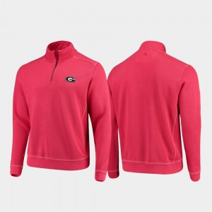 Georgia Bulldogs For Men College Sport Nassau Half-Zip Pullover Tommy Bahama Jacket - Red