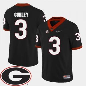 #3 Todd Gurley Georgia Bulldogs College Football 2018 SEC Patch Men Jersey - Black