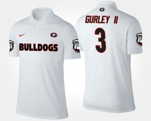 #3 Todd Gurley II Georgia Bulldogs For Men Polo - White