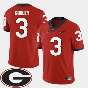 #3 Todd Gurley Georgia Bulldogs College Football For Men's 2018 SEC Patch Jersey - Red