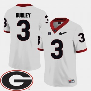 #3 Todd Gurley Georgia Bulldogs College Football 2018 SEC Patch For Men Jersey - White