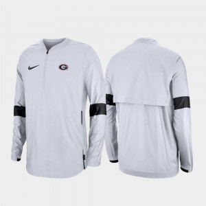 Georgia Bulldogs For Men's 2019 Coaches Sideline Quarter-Zip Jacket - White