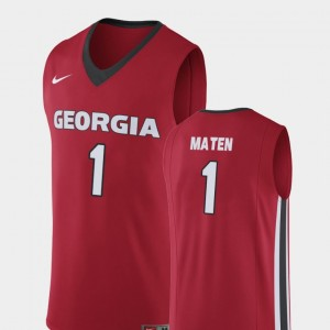 #1 Yante Maten Georgia Bulldogs Replica Mens College Basketball Jersey - Red